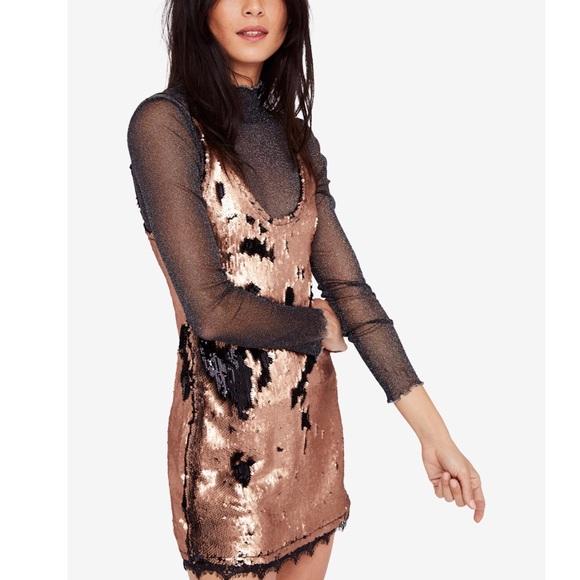 dec95e3c Free People Dresses | Nwt Seeing Double Sequin Slip Dress | Poshmark